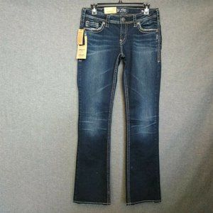 Silver Jeans Aiko Mid Slim Boot Fluid Stretch Dnm